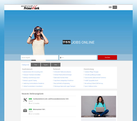 Discover the online job platform jobs.ch